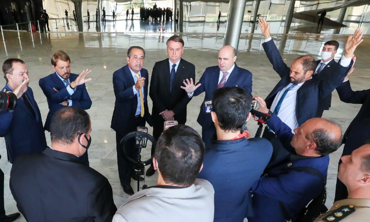 Pastores de igrejas evangélicas se reuniram com o presidente no início de junho, em Brasília. Foto: PR