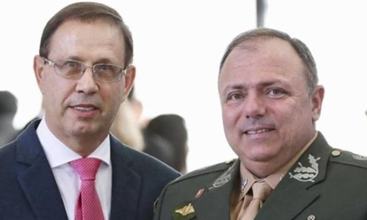 Carlos Wizard e o ex-ministro da Saúde Eduardo Pazuello. Foto: Reprodução/Redes Sociais