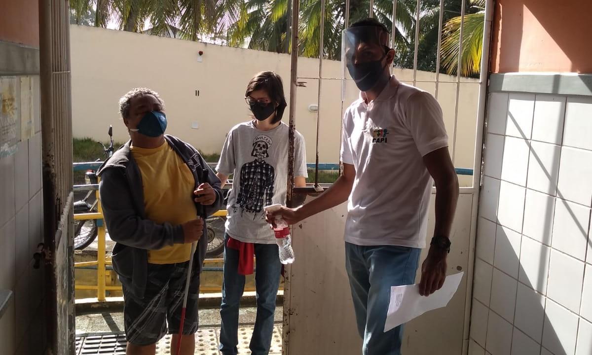 Escolas estaduais no Sul da Bahia atendem estudantes da Educação Inclusiva na testagem da COVID-19 – Centro de Apoio Pedagógico de Ipiaú. (Foto: Educação Bahia)