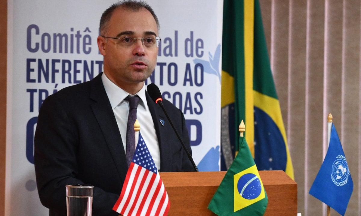 O ex-ministro da Justiça e Segurança Pública, atual Advogado Geral da União do governo Bolsonaro, André Mendonça. Foto: Isaac Amorim/MJSP