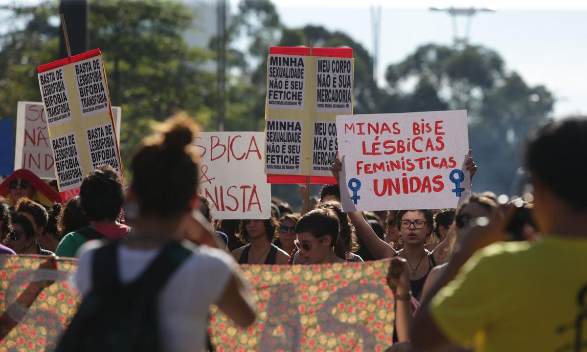 Marcha das mulheres lésbicas. Foto: Paulo Pinto/ Fotos Públicas