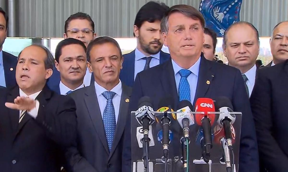 O presidente Jair Bolsonaro, em coletiva de imprensa. Foto: Reprodução/TV Brasil