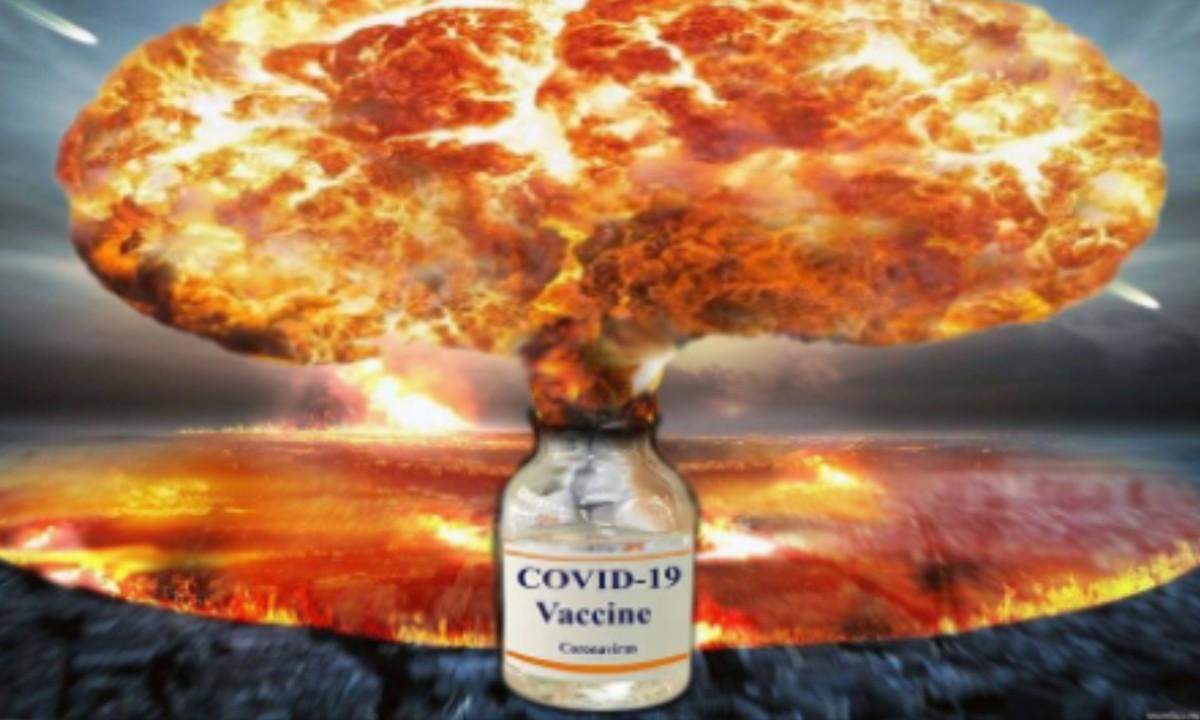 Montagem compartilhada nos grupos antivacina no Facebook (Foto: Reprodução)