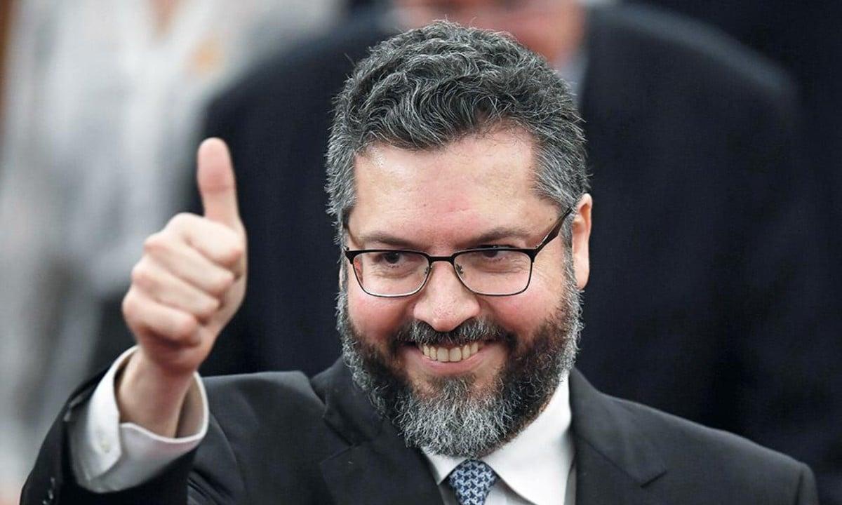 O chanceler Ernesto Araújo. Foto: Evaristo Sá/AFP