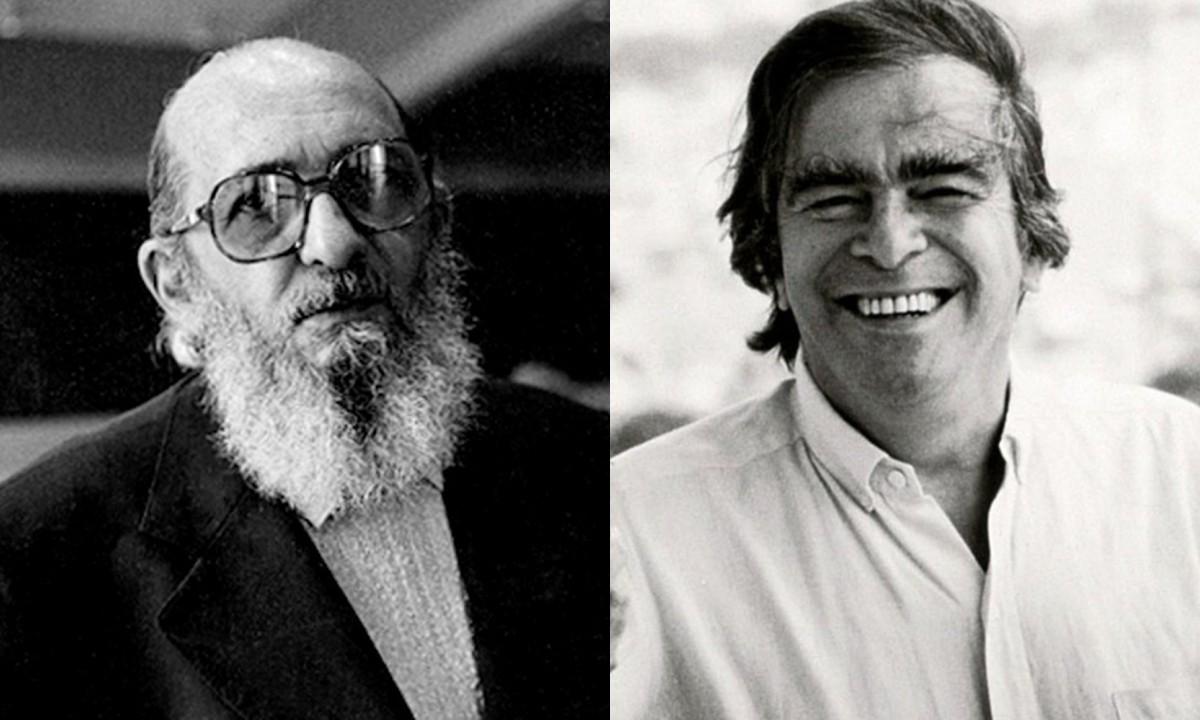 Paulo Freire e Darcy Ribeiro. Imagens: Wikipedia/Creative Commons e Manoel Dias