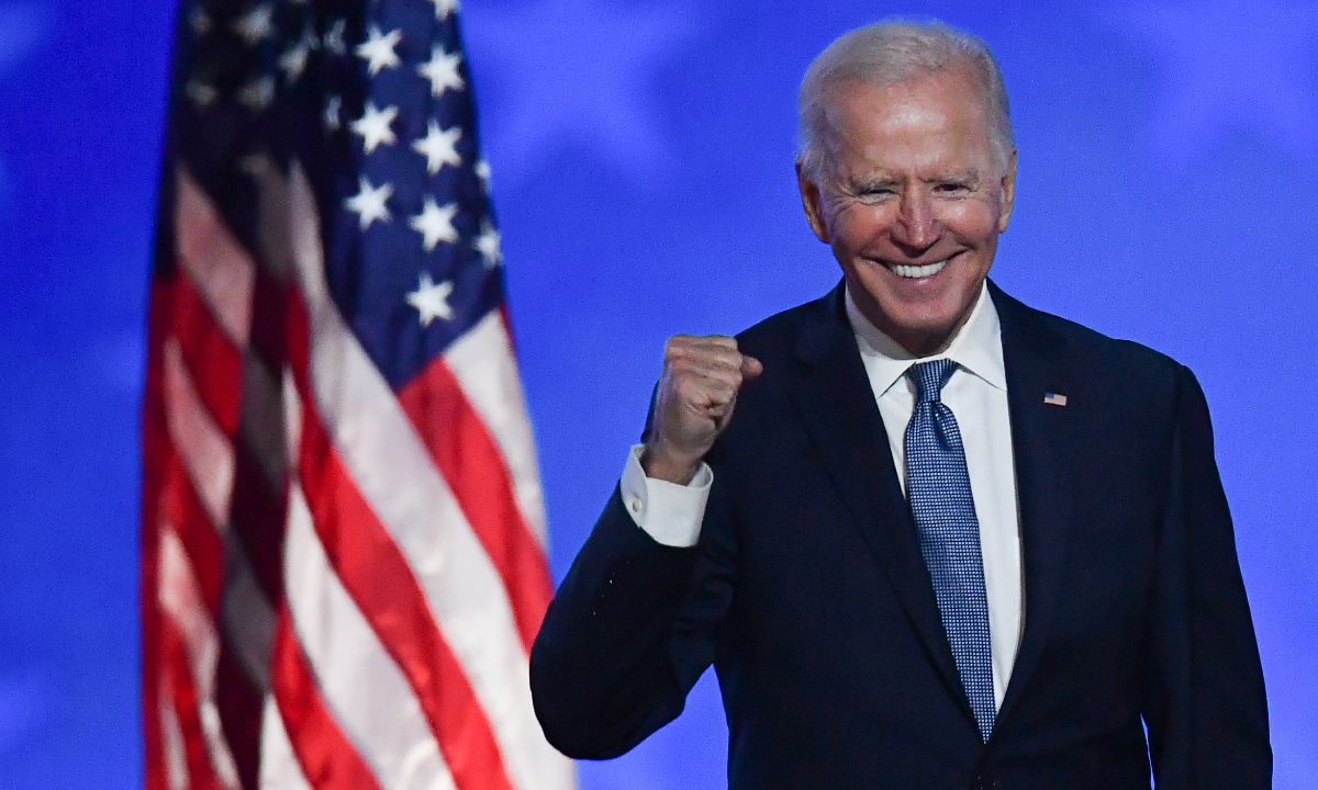 Joe Biden é o novo presidente dos EUA. Foto: ANGELA WEISS / AFP.