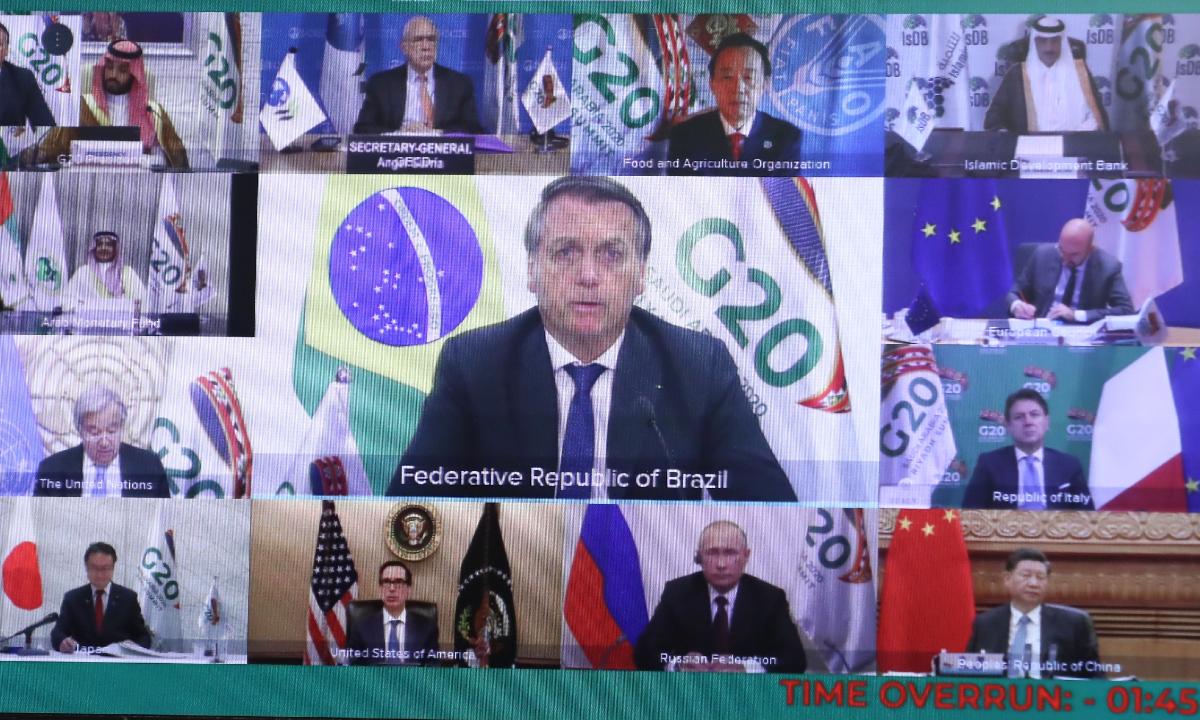 Líderes do G20 encerram cúpula sem dar garantias de vacinação em massa contra Covid-19. Foto: AFP.