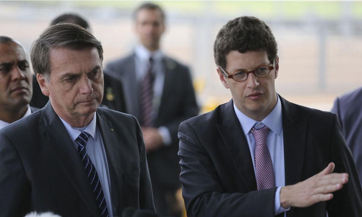 O Presidente Jair Bolsonaro e o ministro do Meio Ambiente, Ricardo Salles. Foto: José Cruz/Agência Brasil