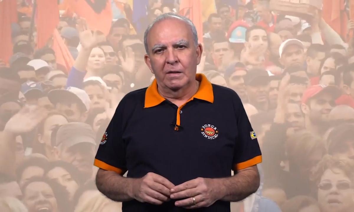 O presidente da Força Sindical, Miguel Torres. Foto: Reprodução/YouTube