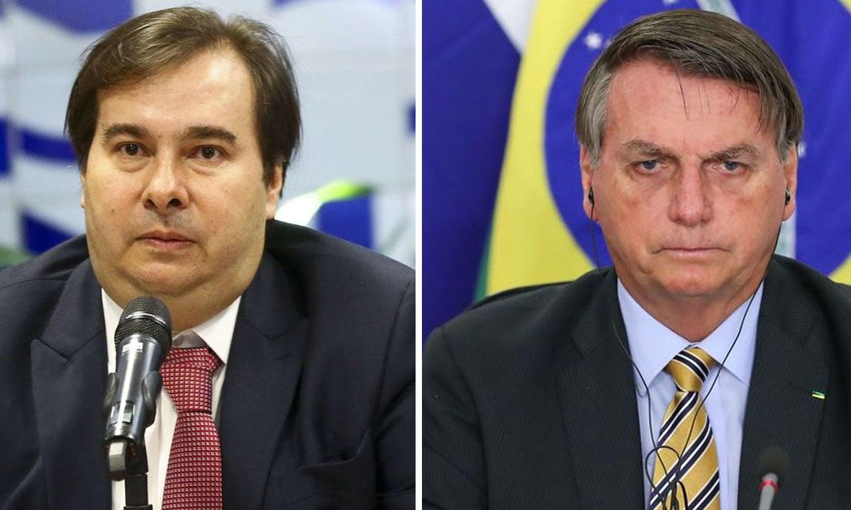 Rodrigo Maia e Jair Bolsonaro. Fotos: Marcelo Camargo/Agência Brasil - Marcos Corrêa/PR