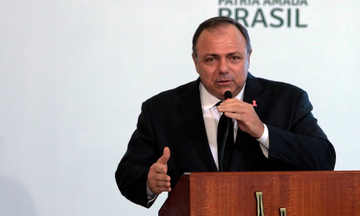 O ministro da Saúde, Eduardo Pazuello. Foto: Valter Campanato/Agência Brasil