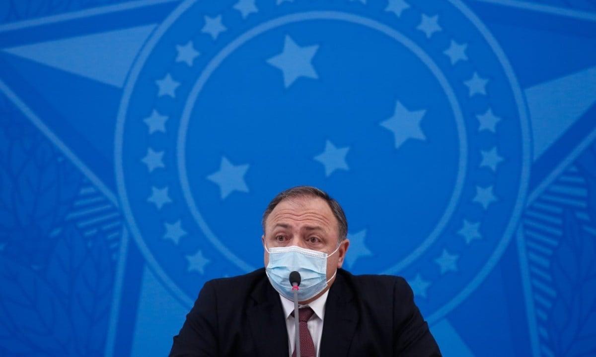 O ex-ministro da Saúde, Eduardo Pazuello. Foto: Sergio Lima/AFP
