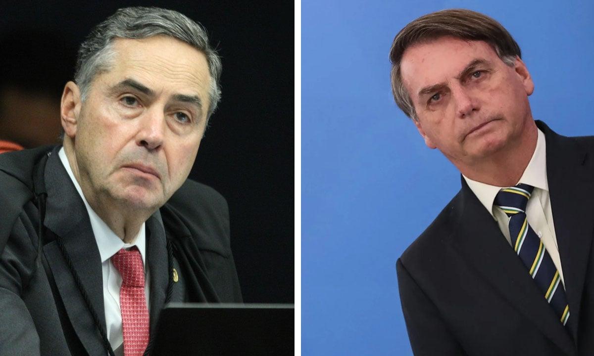 Luis Roberto Barroso e Jair Bolsonaro. Fotos: Nelson Jr./STF e Marcos Corrêa/PR
