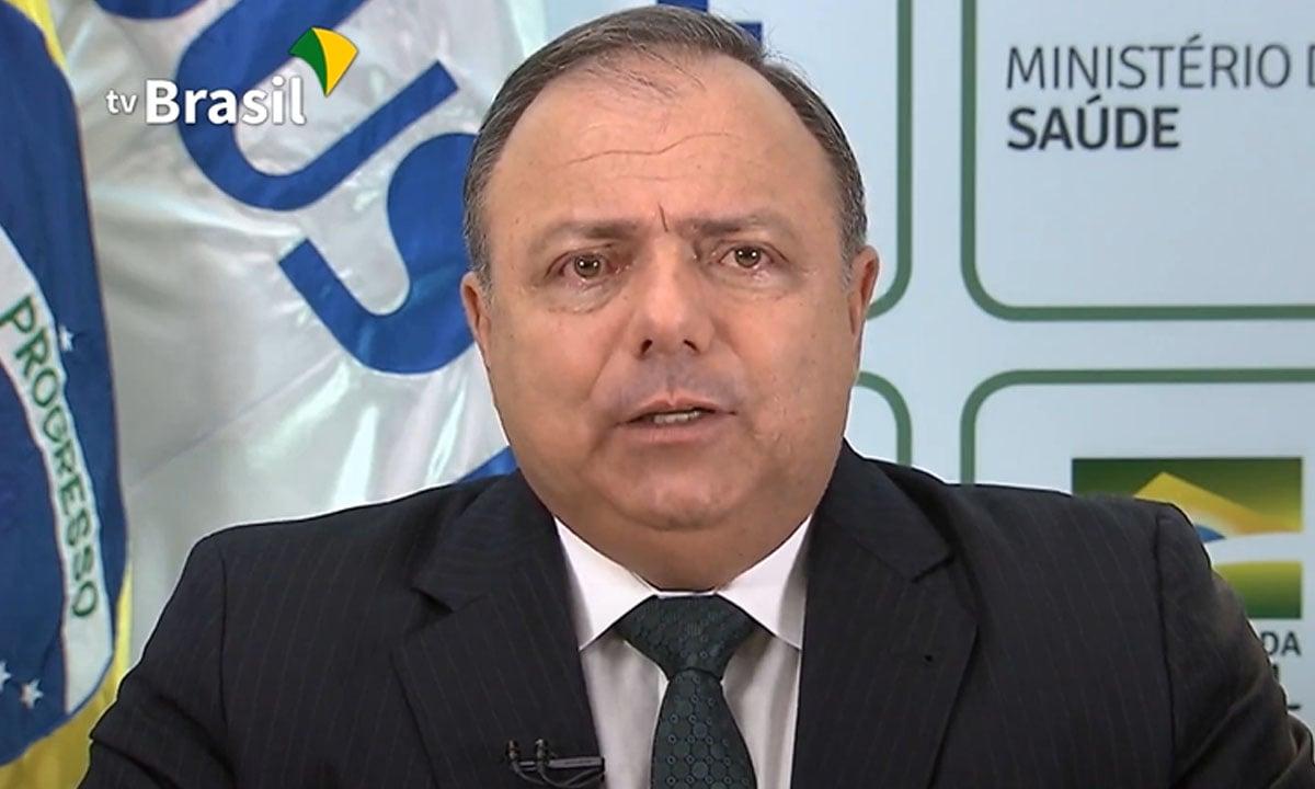 O ex-ministro da Saúde, Eduardo Pazuello. Foto: Reprodução/TV Brasil