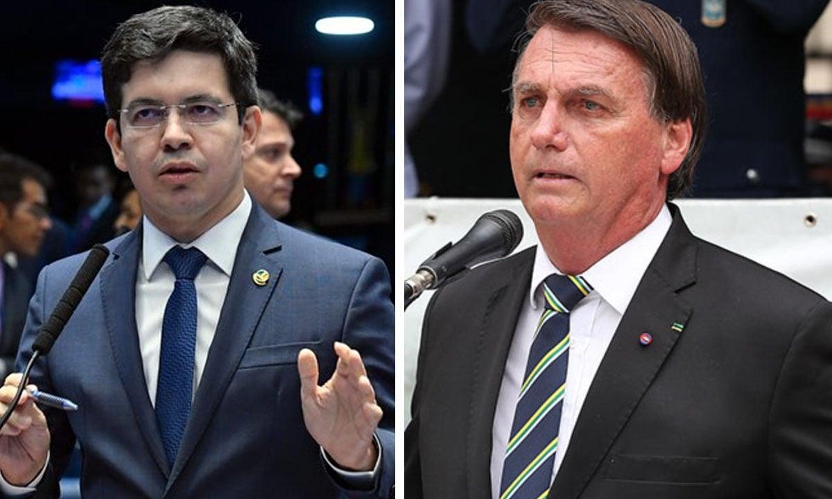 Randolfe Rodrigues e Jair Bolsonaro. Fotos: Roque de Sá/Agência Senado e Marcos Corrêa/PR