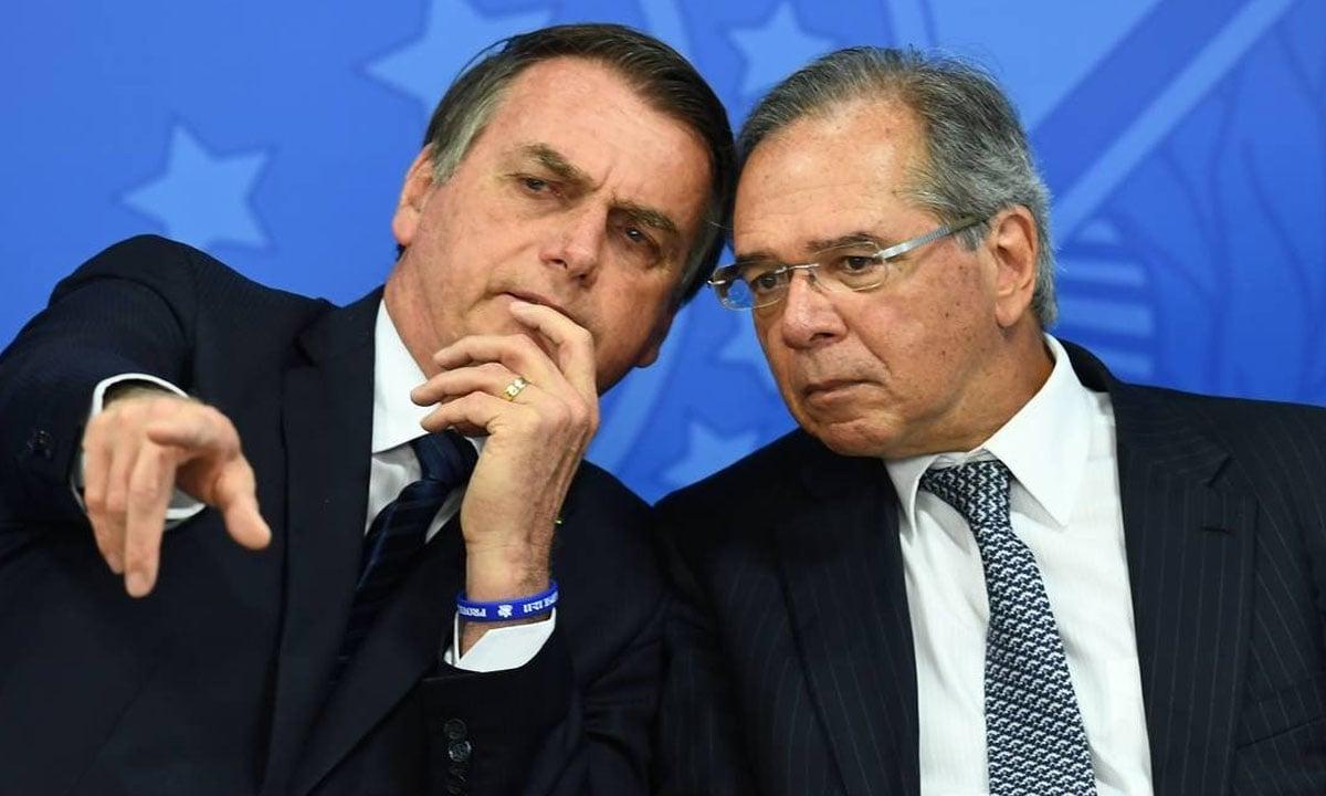 Jair Bolsonaro e Paulo Guedes. Foto: Evaristo Sá/AFP