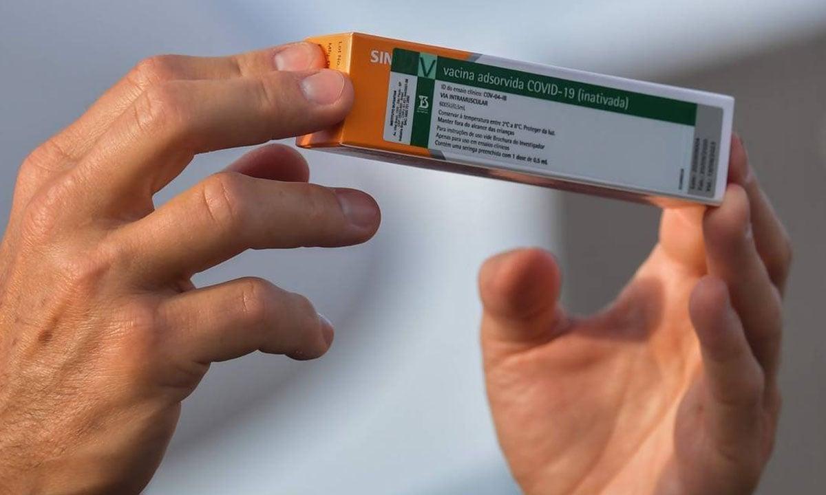 A vacina Coronavac. Foto: Nelson Almeida/AFP
