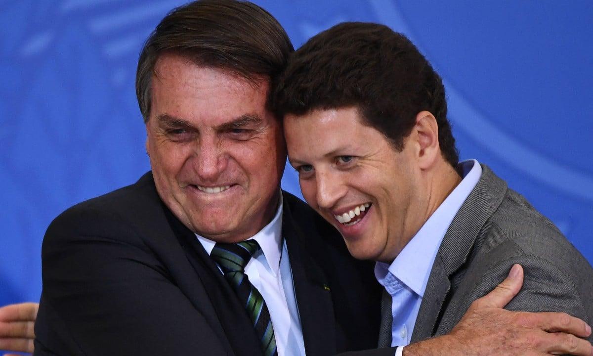 Jair Bolsonaro e Ricardo Salles. Foto: EVARISTO SÁ/AFP
