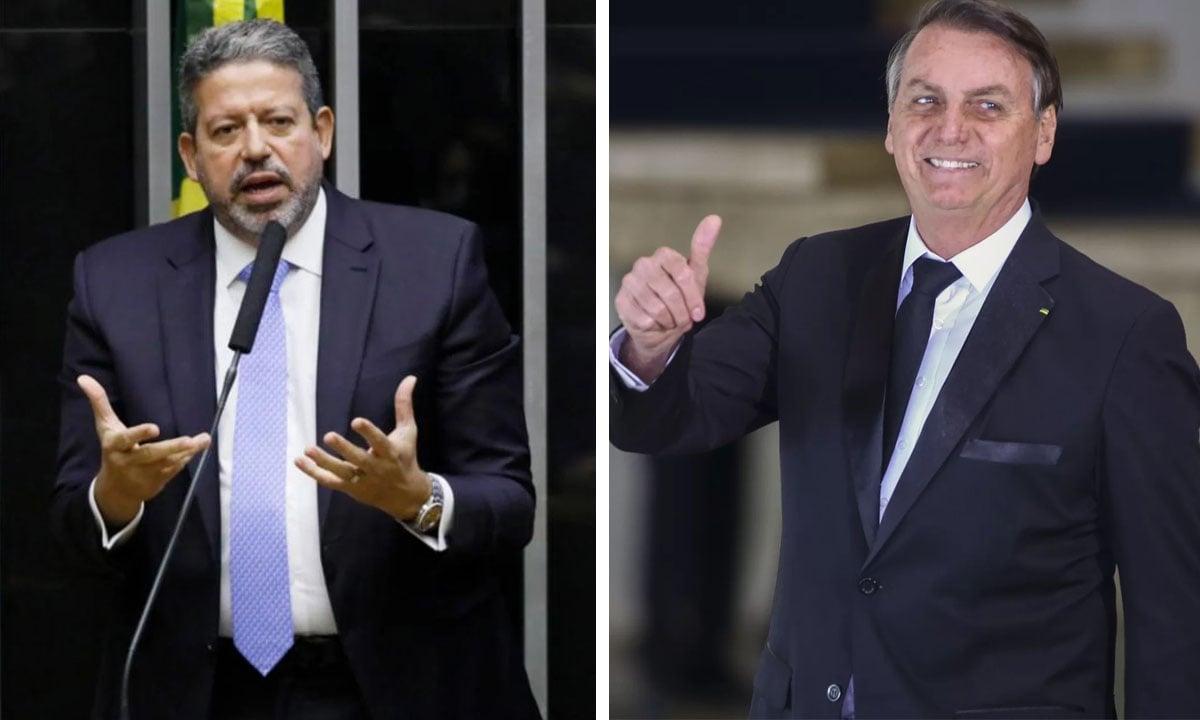 Arthur Lira e Jair Bolsonaro. Fotos: Luis Macedo/Agência Câmara e Sergio Lima/AFP