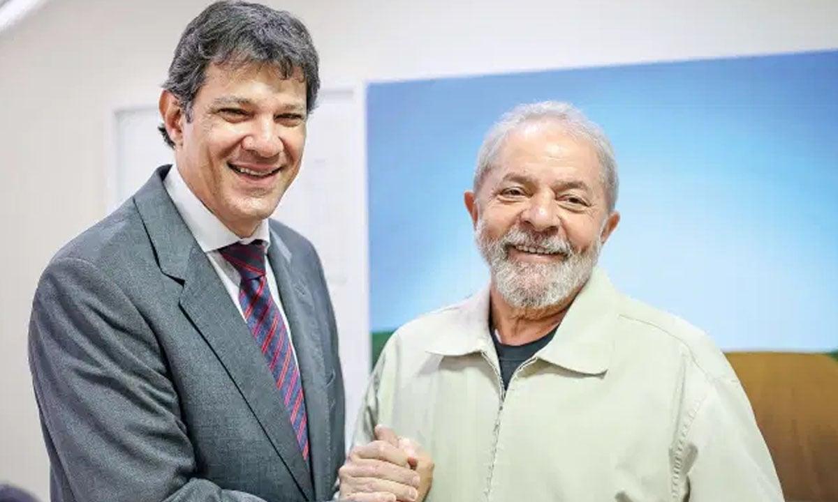 Fernando Haddad e Lula. Foto: Ricardo Stuckert