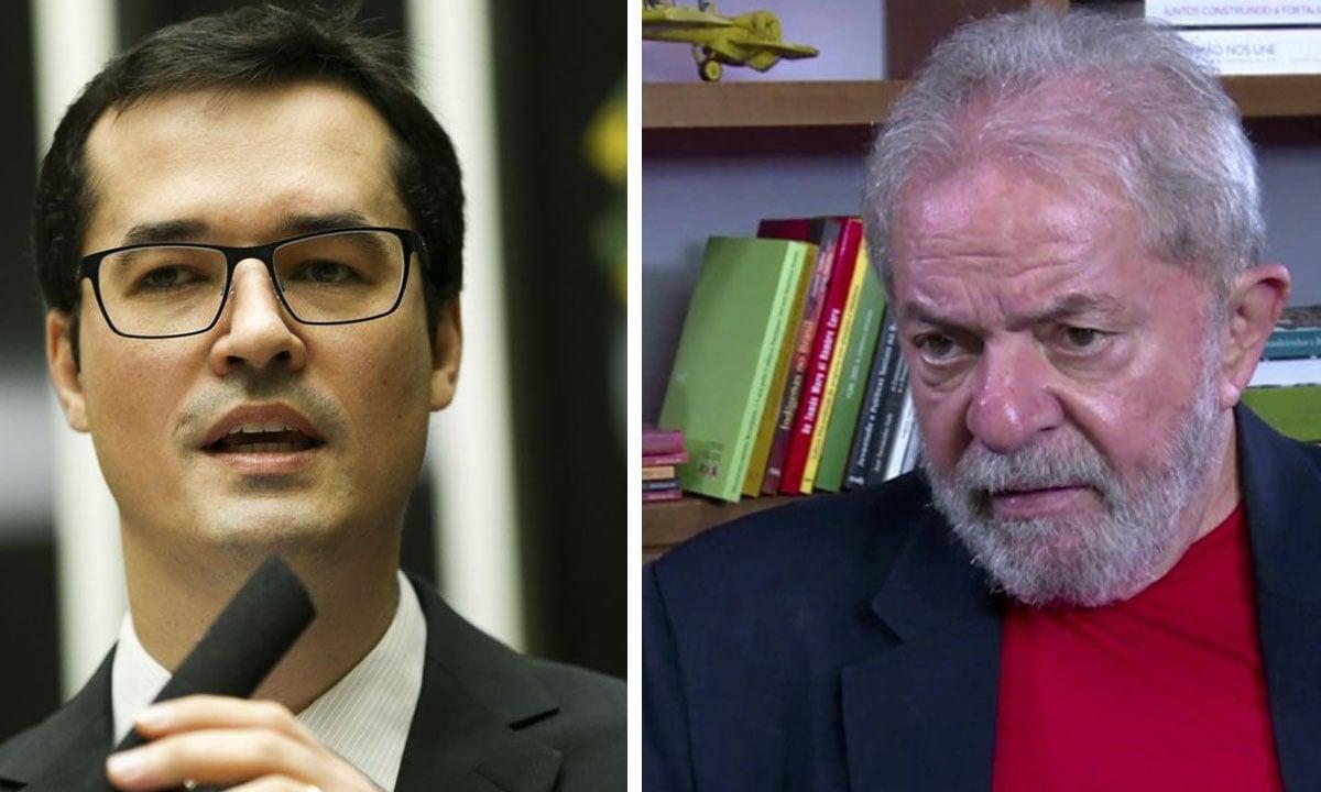 Deltan Dallagnol e Lula. Fotos: Marcelo Camargo/Agência Brasil e AFP