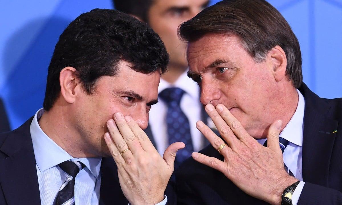 O ex-juiz Sergio Moro e o presidente Jair Bolsonaro. Foto: EVARISTO SÁ/AFP