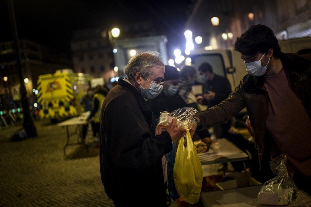 Portugal endureceu medidas após aumento de casos de coronavírus em toda a Europa. Crédito: PATRICIA DE MELO MOREIRA /AFP