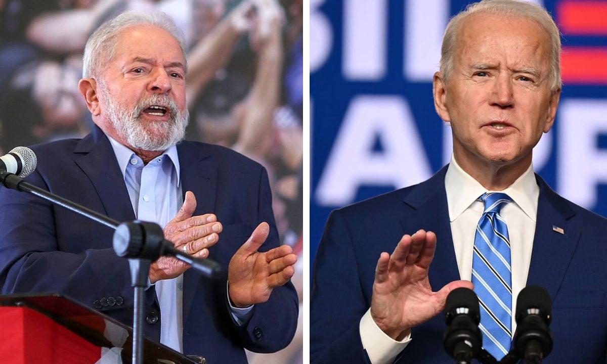 Lula e Joe Biden. Fotos: Ricardo Stuckert e AFP