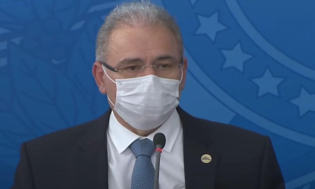 O ministro da Saúde, Marcelo Queiroga. Foto: Reprodução/TV Brasil