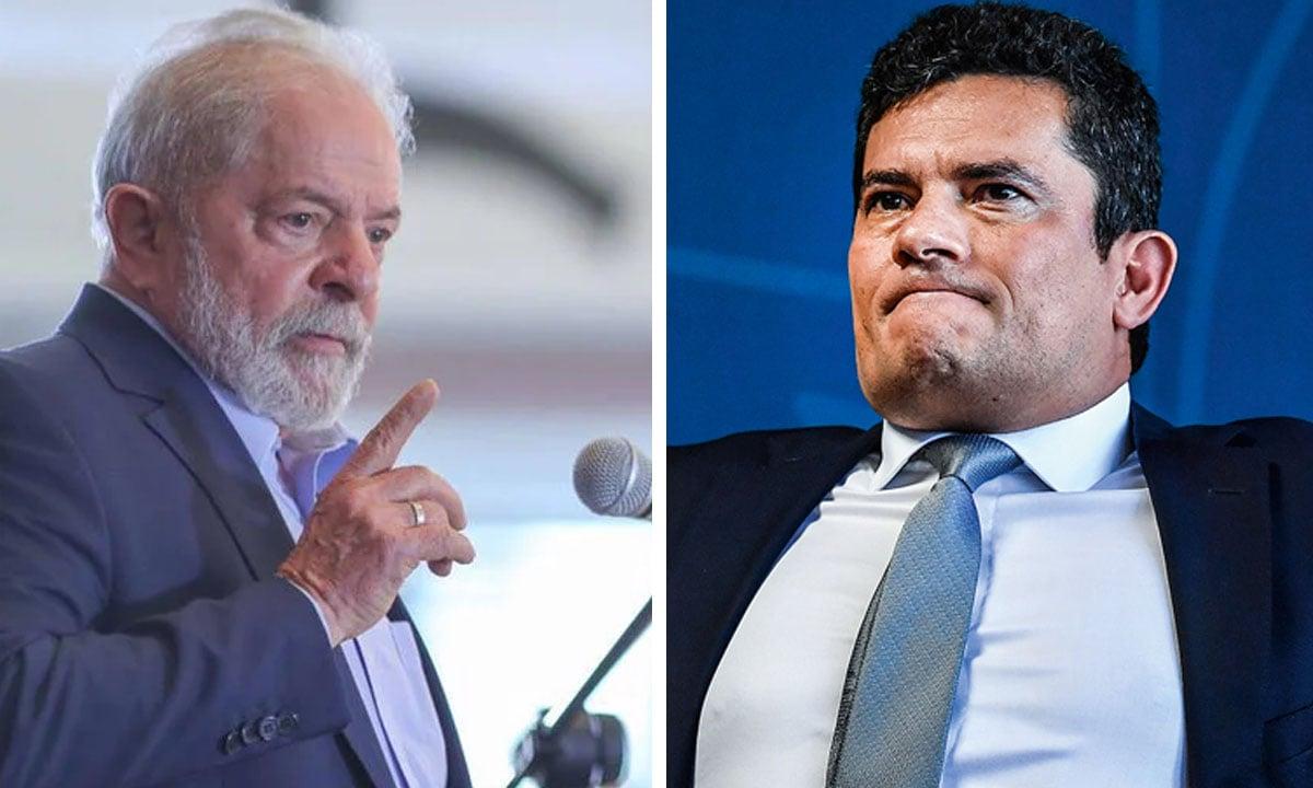 O ex-presidente Lula e o ex-juiz Sergio Moro. Fotos: Ricardo Stuckert e Nelson Almeida/AFP