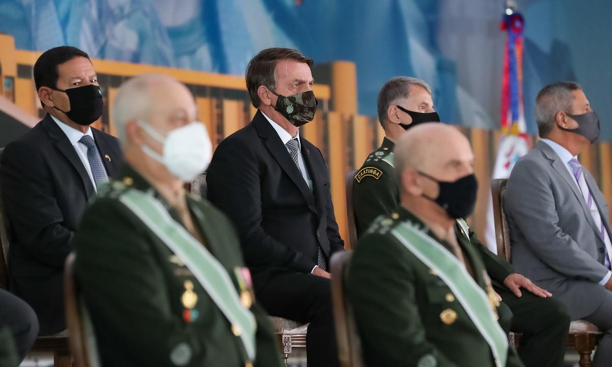 O presidente Jair Bolsonaro, durante solenidade de Promoção de Oficiais-Generais. Foto: Marcos Corrêa/PR