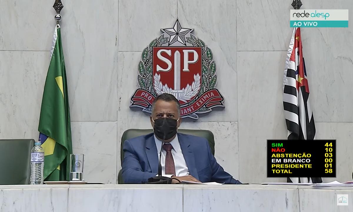Assembleia Legislativa de São Paulo votou projeto que suspende despejos na pandemia. Foto: Reprodução/TV Alesp