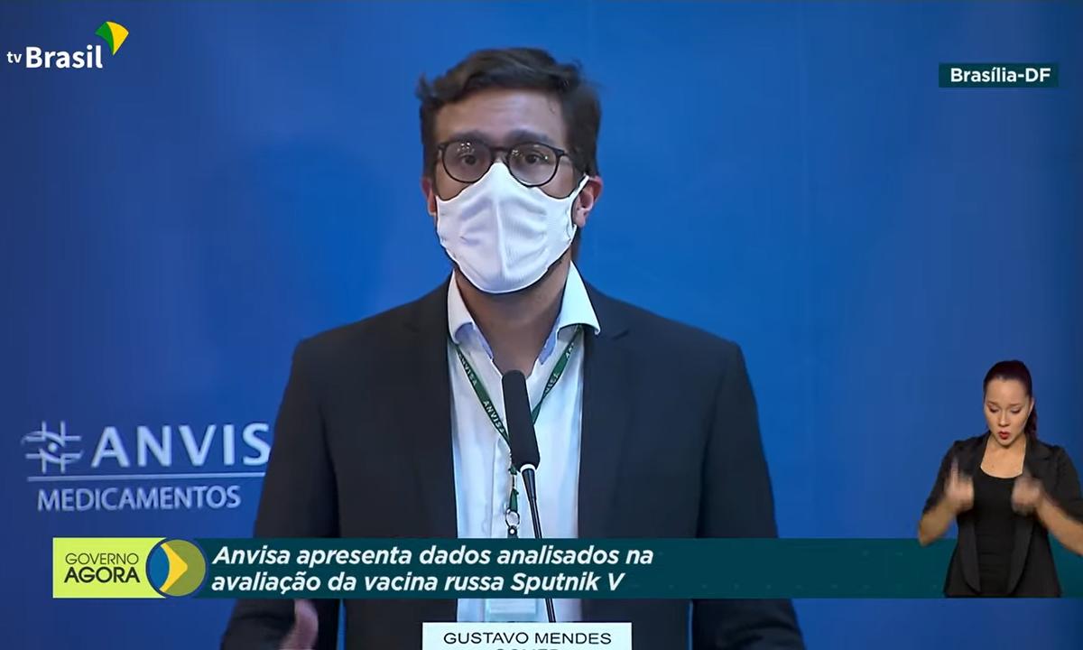 Gustavo Mendes, gerente da Anvisa, rebateu acusações de que recusa à Sputnik V foi política. Foto: Reprodução