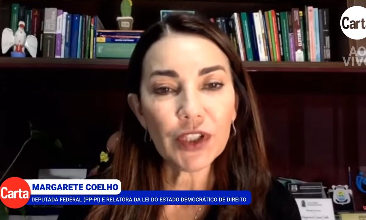 A deputada federal Margarete Coelho (PP-PI), relatora da Lei do Estado Democrático de Direito. Foto: Reprodução