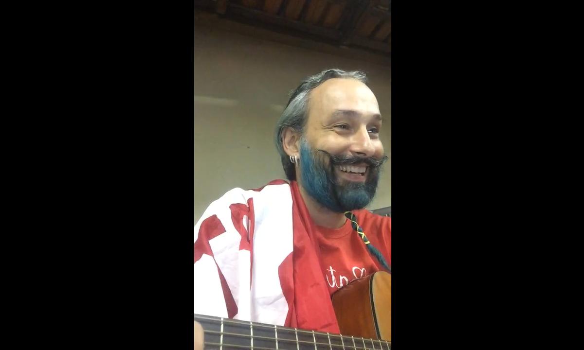 O ativista Rodrigo Pilha, em vídeo publicado na internet. Foto: Reprodução