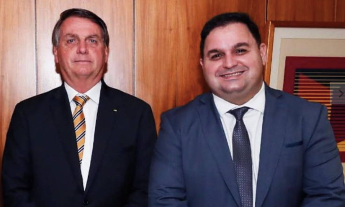 Jair Bolsonaro se reuniu no Palácio do Planalto com o empresárioWellington Leite. Foto: Reprodução/Facebook.
