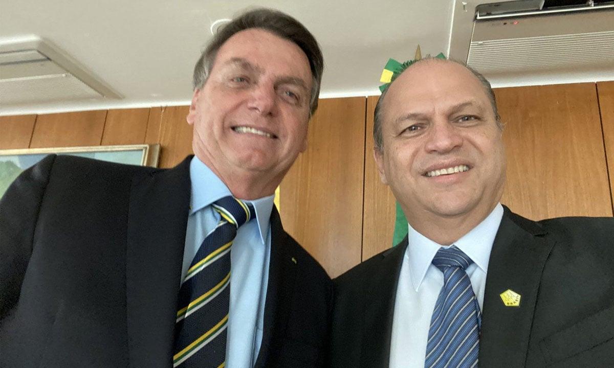 Jair Bolsonaro e Ricardo Barros. Foto: Reprodução/Redes Sociais