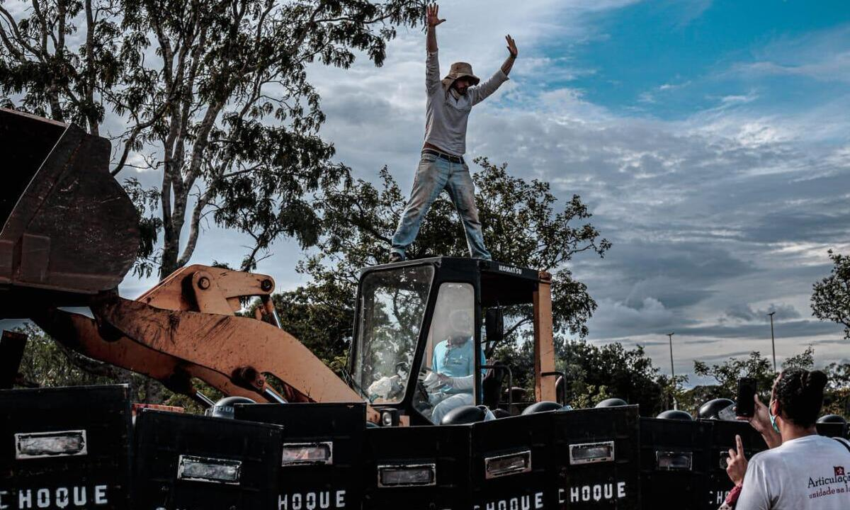 Ocupação em Brasília sofreu operação violenta da Polícia. Foto: Scarlett Rocha