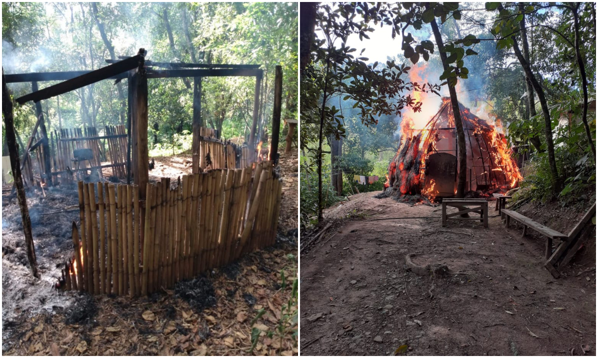 Indígenas e Cimi apontam crime e cobram regularização de aldeia incendiada em Guarulhos