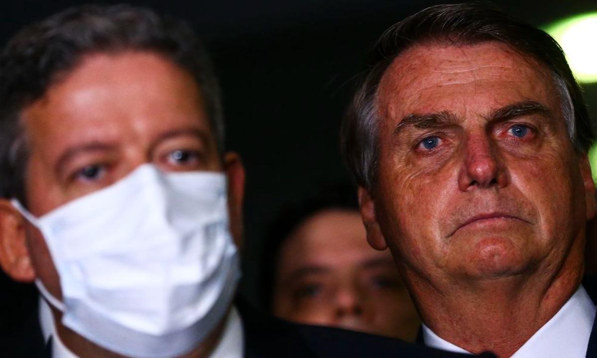 O presidente da Câmara dos Deputados, Arthur Lira, e o presidente Jair Bolsonaro. Foto: Marcelo Camargo/Agência Brasil