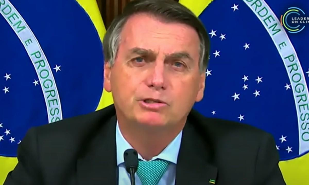 Bolsonaro discursa na Cúpula do Clima de 2021 (Foto: Reprodução/Leaders Summit)