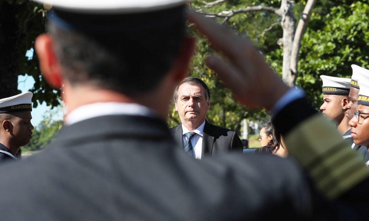 (Rio de Janeiro - RJ, 07/06/2019) Presidente da República, Jair Bolsonaro durante revista às tropas.Foto: Marcos Corrêa/PR