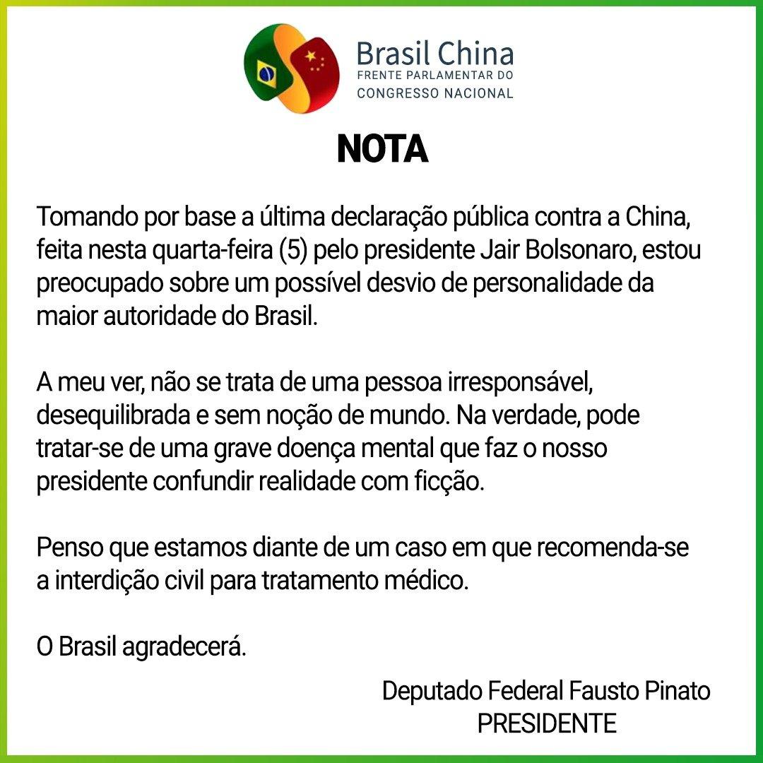Deputado fala em grave doença mental de Bolsonaro e defende interdição -  CartaCapital