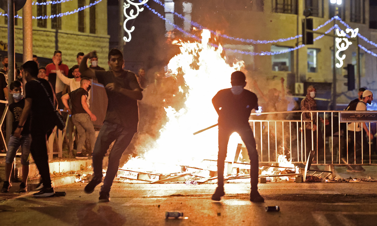 Comunidade internacional cada vez mais preocupada com confrontos em Jerusálem. Foto: EMMANUEL DUNAND / AFP