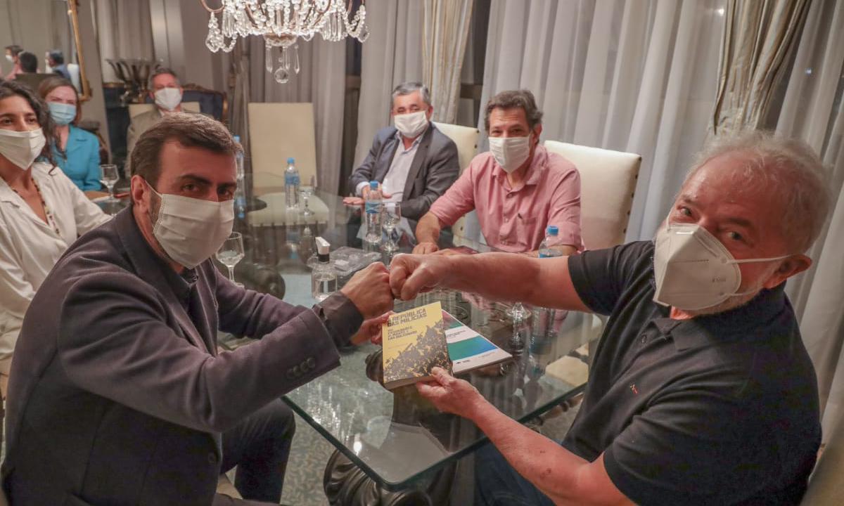 Lula e Freixo se encontram em Brasília e falam sobre uma frente ampla contra Bolsonaro em 2022. Foto: Reprodução/Twitter.