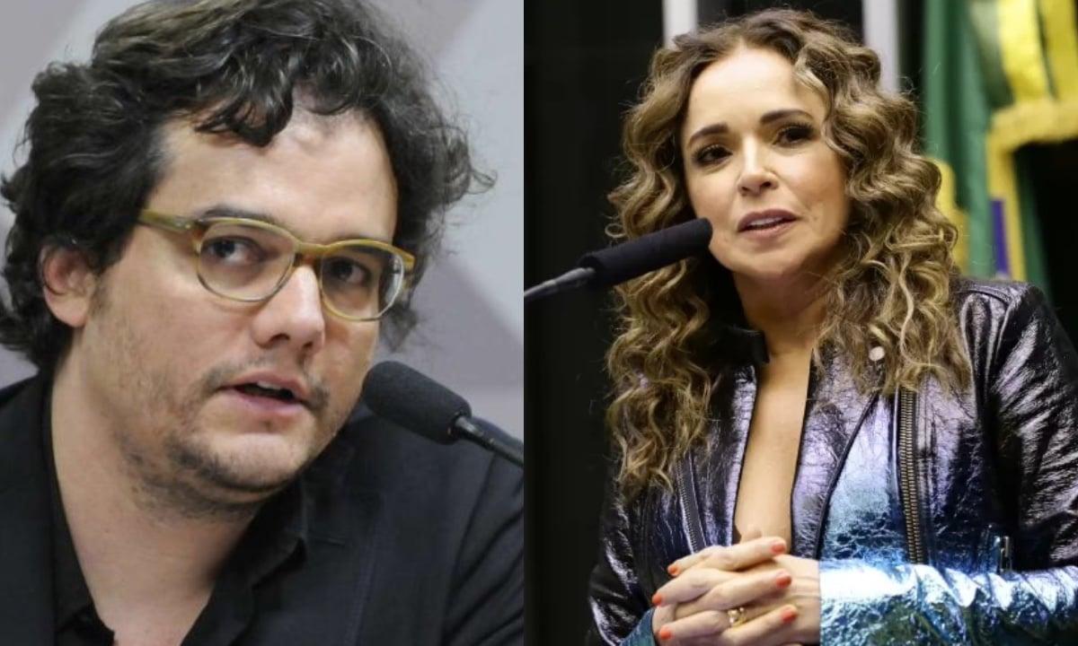 Daniela Mercury e Wagner Moura divulgam carta em que cobram justiça pelos mortos em Jacarezinho. Foto: Câmara dos Deputados/ PT Brasil.