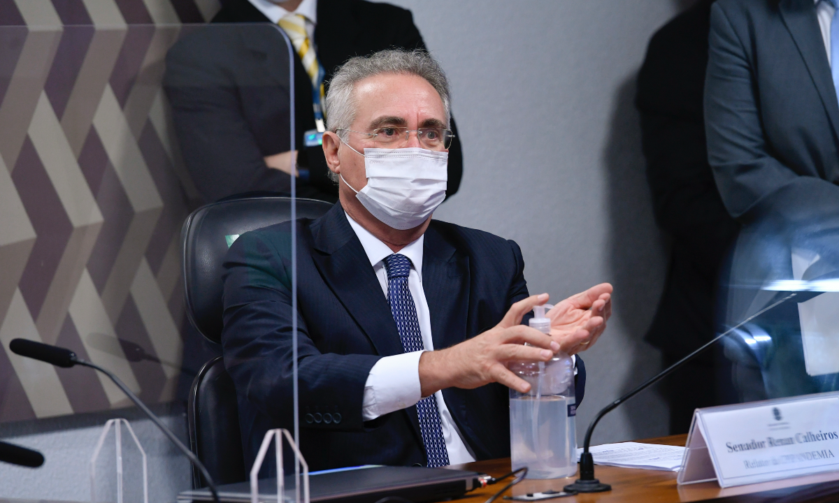 Relator da CPI da pandemia, o senador Renan Calheiros (MDB-AL). Foto: Jefferson Rudy/Agência Senado