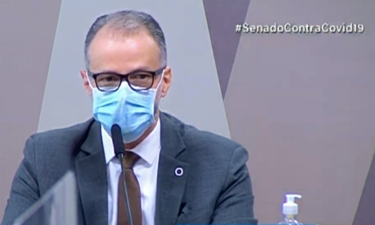Presidente da Agência Nacional de Vigilância Sanitária (Anvisa), Antonio Barra Torres. Foto: Reprodução/Youtube.