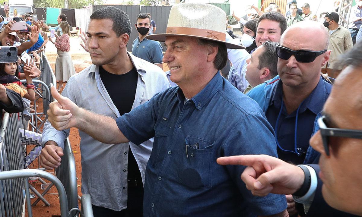 O presidente Jair Bolsonaro durante viagem a Mato Grosso do Sul, nesta sexta-feira 14 de maio. Foto: Marcos Corrêa/PR