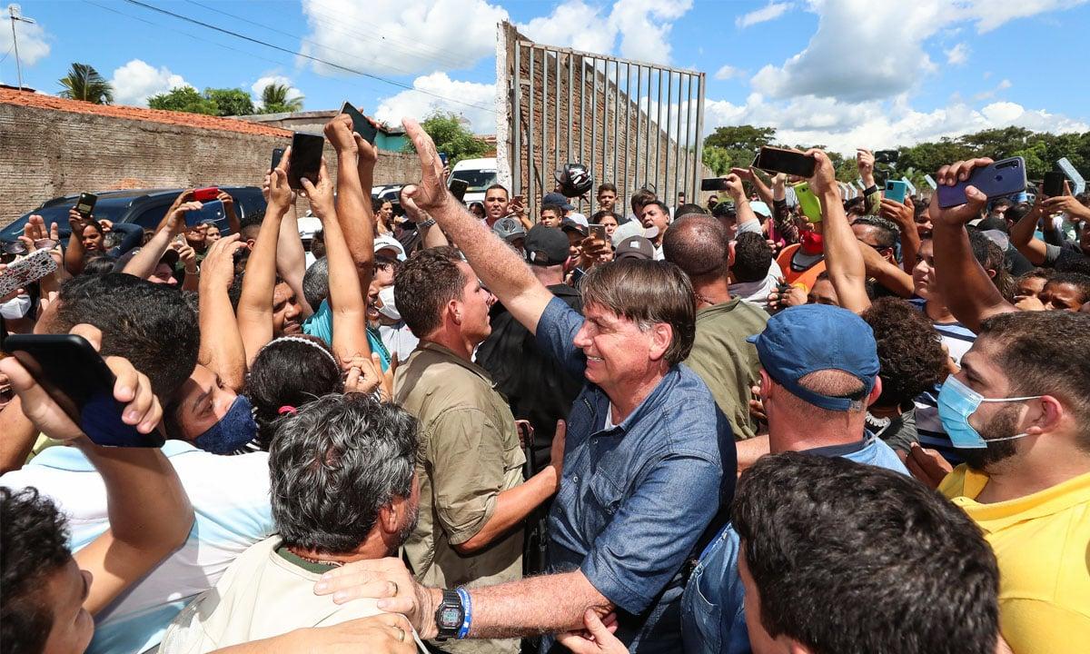 O presidente Jair Bolsonaro durante passagem por Senador La Rocque, no Maranhão, no dia 21 de maio de 2021. Foto: Isac Nóbrega/PR